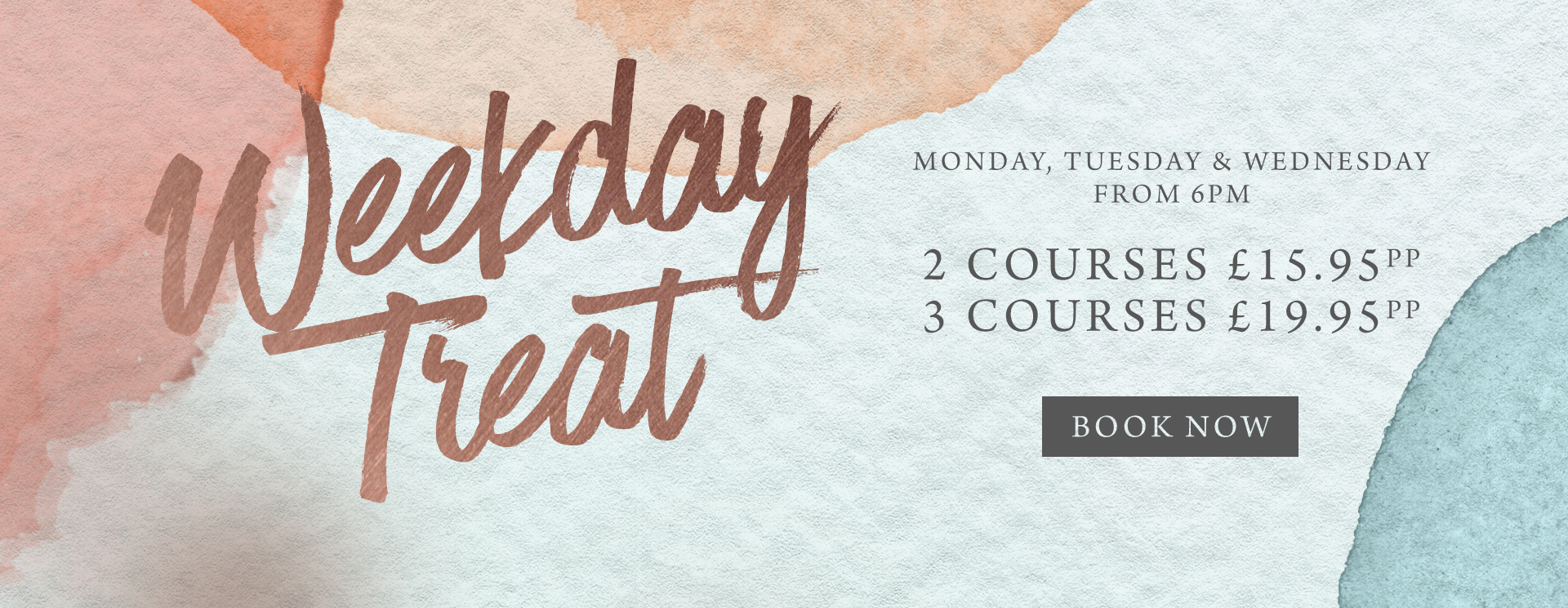 Weekday treat at The Rams Head - Book now