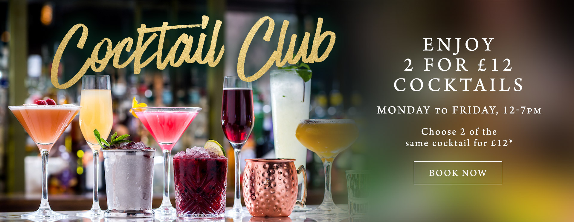 2 for £12 cocktails at The Rams Head